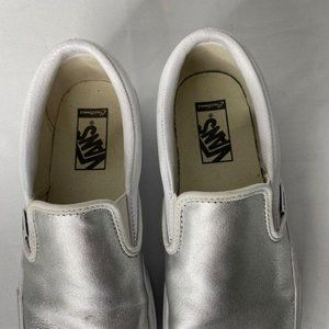 VANS Shoes - Vans Classic Slip On Loafer M 8.5 / W 10 Silver